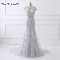 2017 Spring Summer Sexy Mermaid Prom Dresses long design Evening Dress New Design Amazing Party gown beading Evening gown