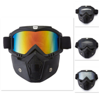 ILM Motorcycle Helmet Face Masks Riding Goggles Glasses Removable Helmet Masks Air-soft Glass Fits for Powers-ports Paintball