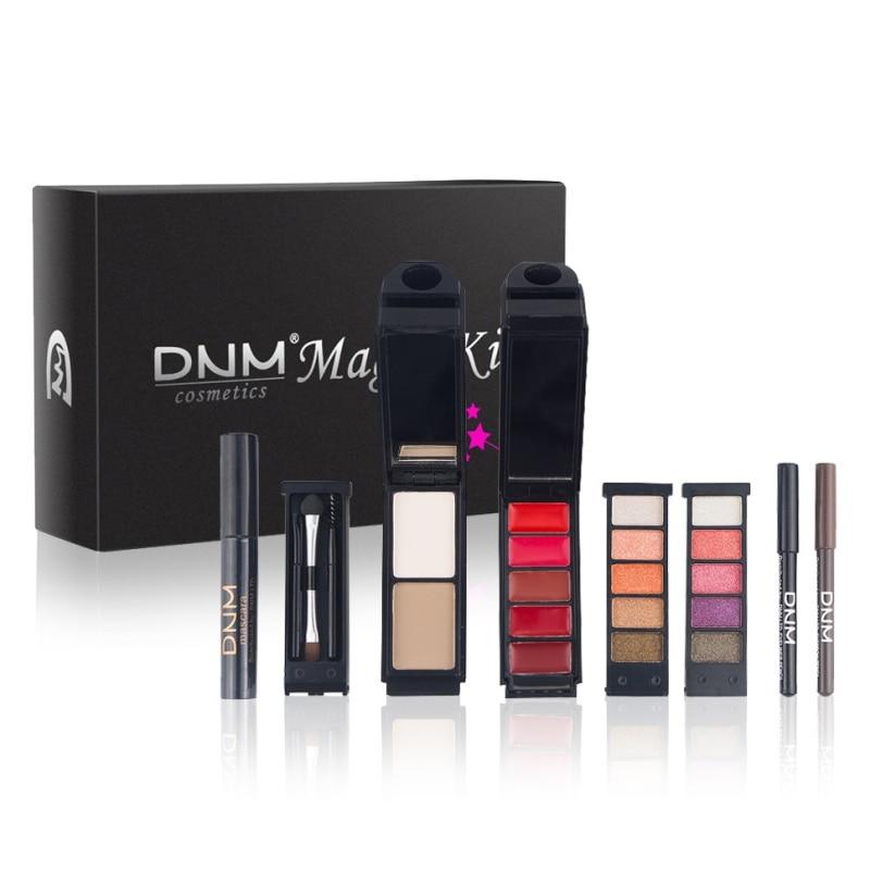 Makeup Kit Eyeshadow+Cosmetic Brush+Bronzer+Lipstick+Mascara+Eyeliner+Eyebrow Pencil Lip Gloss Foundation Powder