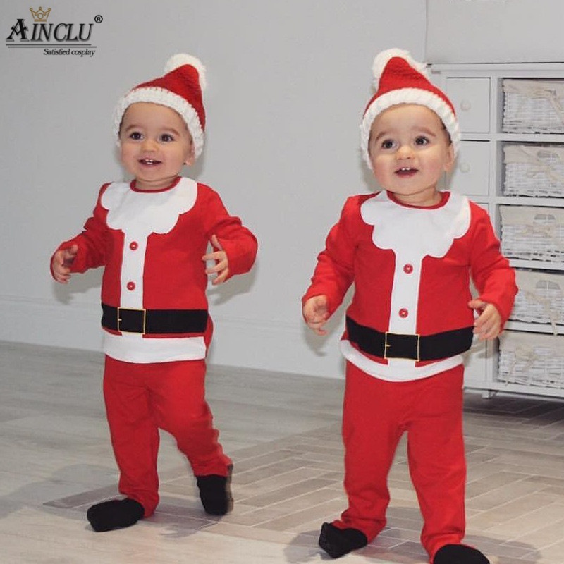 Santa Claus cosplay costumes for baby kids