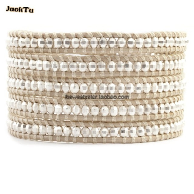handmade wholesale 925 sterling silver beads bracelet women
