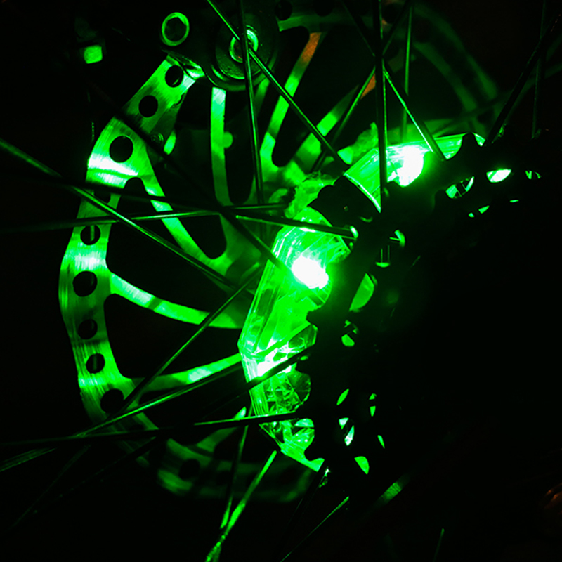 2p Colorful Change Bike Hub Spoke Lights Rechargeable