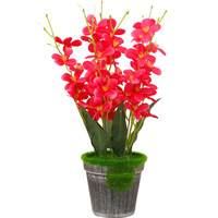Pastoral Butterfly Orchid Artificial Flowers Plastic Flowers Bonsai Artificial Decor Valentines Day Gifts Festive Party Supplies
