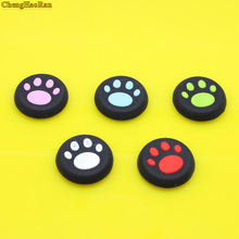 ChengHaoRan 2 Pcs Cat Paw Rubber Silicone Game Handle Joystick  Stick Grip Cap For PS3 PS4 Xbox 360 ONE for PlayStation 4 3