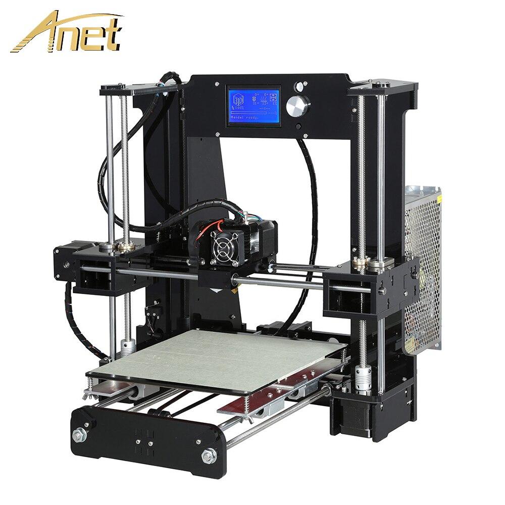 Обновления Анет A6 Imprimante 3D принтеры DIY Kit Auto Level A6 L Impresora 3D принтеры s Алюминий очаг с 10 м нить SD Card