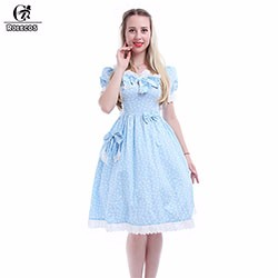 Rolecos-2016-Summer-Style-Cotton-Blue-Floral-Short-Dress-Girls-Vestidos-Short-Sleeve-for-Women-Dresses