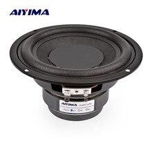 AIYIMA 1 шт. 5,25 дюймов сабвуфер аудио колонки 100 Вт 4 8 Ом высокой мощности Fever НЧ-динамик двойной Магнитный громкоговоритель DIY звуковая система