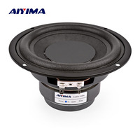 AIYIMA 1Pc 5.25 Inch Subwoofer Audio Speakers 100W 4 8 Ohm High Power Fever Woofer Dual Magnetic Loudspeaker DIY Sound System