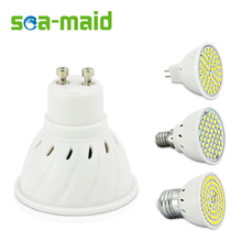10pcs LED Spotlight GU10 E14 E27 MR16 Led Lamp AC 220V 3528SMD 48Leds 60Leds 80Leds Cold White Warm White LED Lighting