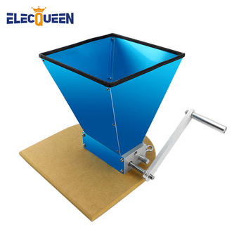 StainlessSteel 2-roller Malt Mill Grain Crusher For Homebrew With Wooden Mounting Board Base