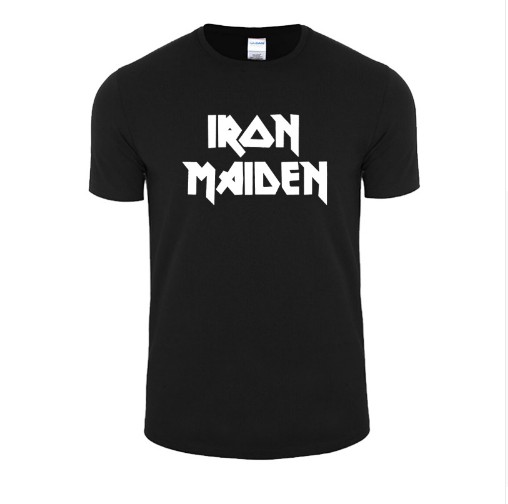 Iron Maiden T Shirts Brand Heavy Metal Streetwear Punk Rock Band Men's T-Shirt 100% Cotton Casual Short Sleeve Tshirt Tops Tees