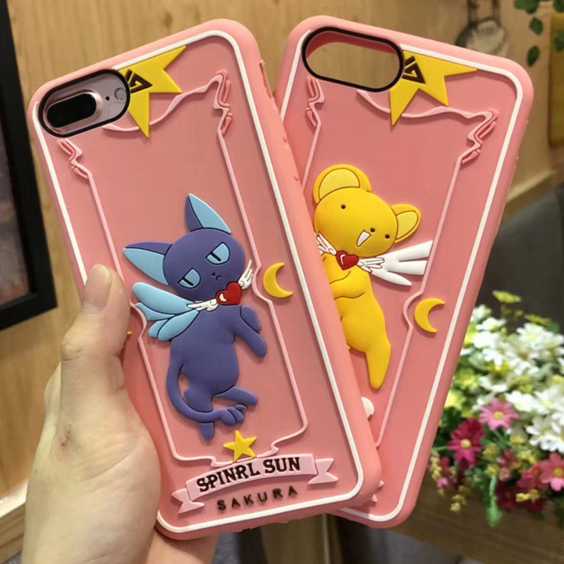 Cute Sailor Moon Luna Cat Phone Case for iphone X Anime ...