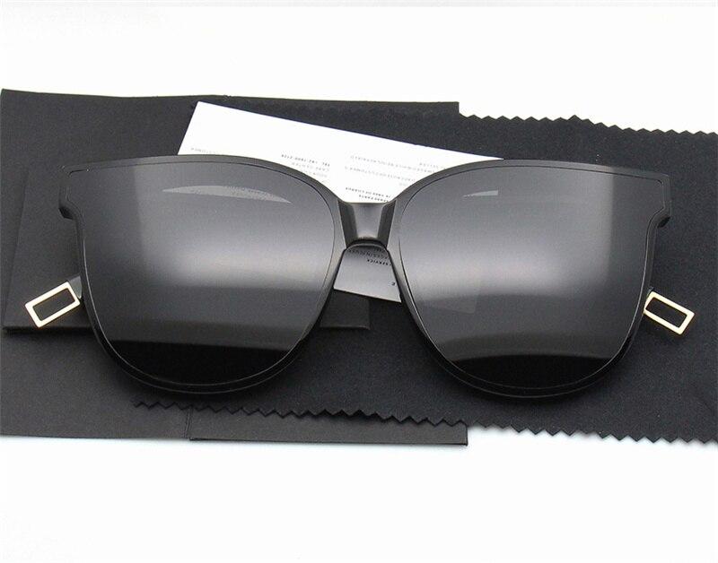2018 Korean Brand Gentle Sunglasses For Women Cat Eye Sun Glasses High Quality Polarized UV400 V Zonnebril Dames