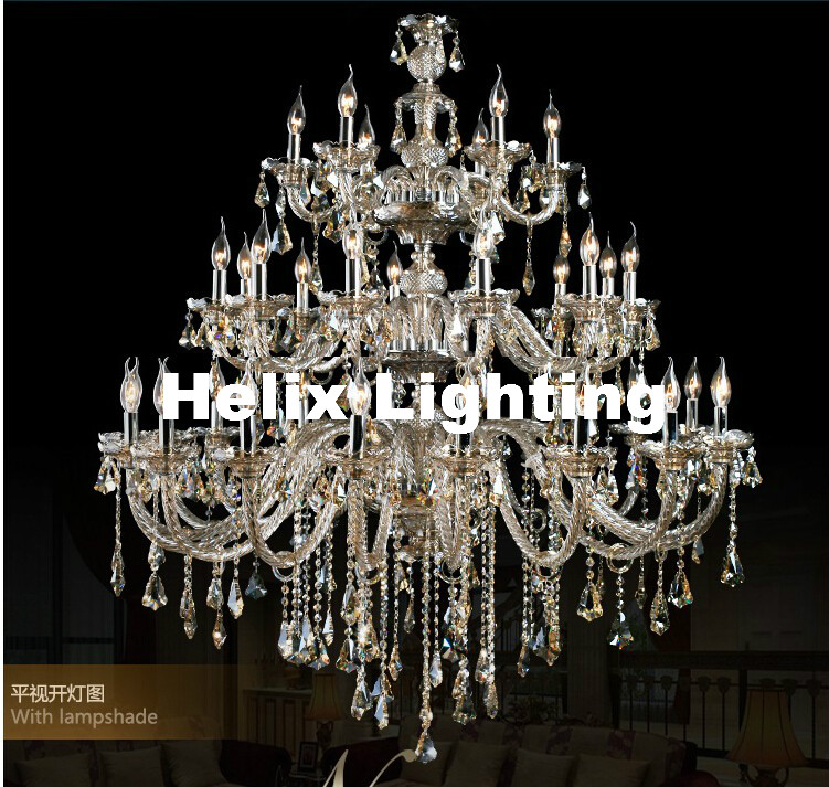 Crystal Chandelier Grades: Free Shipping D1500mm H2000mm 35L Crystal Luxury Champagne