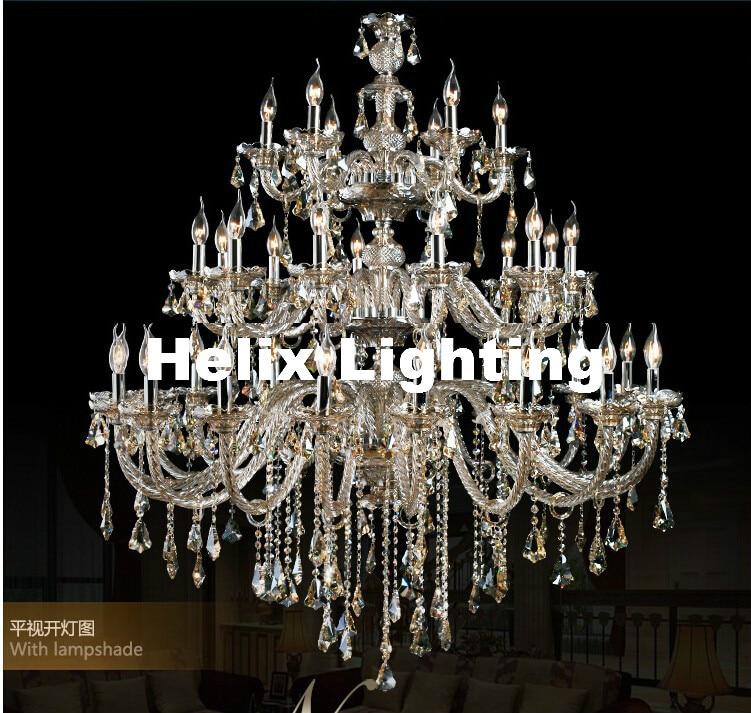 Trasporto Libero D1500mm H2000mm 35L di cristallo di Lusso Champagne luce K9 lampadario di Cristallo Di modo di Grado Superiore K9 Lampadario Illuminazione