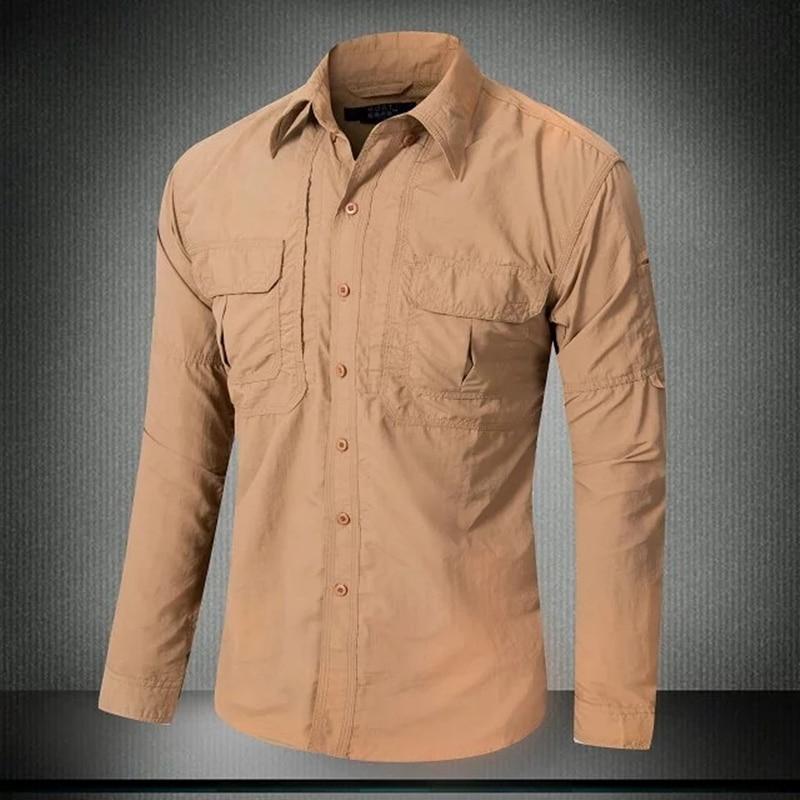 Mens Quick Dry Sun Protection Long Sleeve Skin Shirt Outdoor Summer Fishing Riding Camping Thin Breathable Sunscreen Tops Shirts