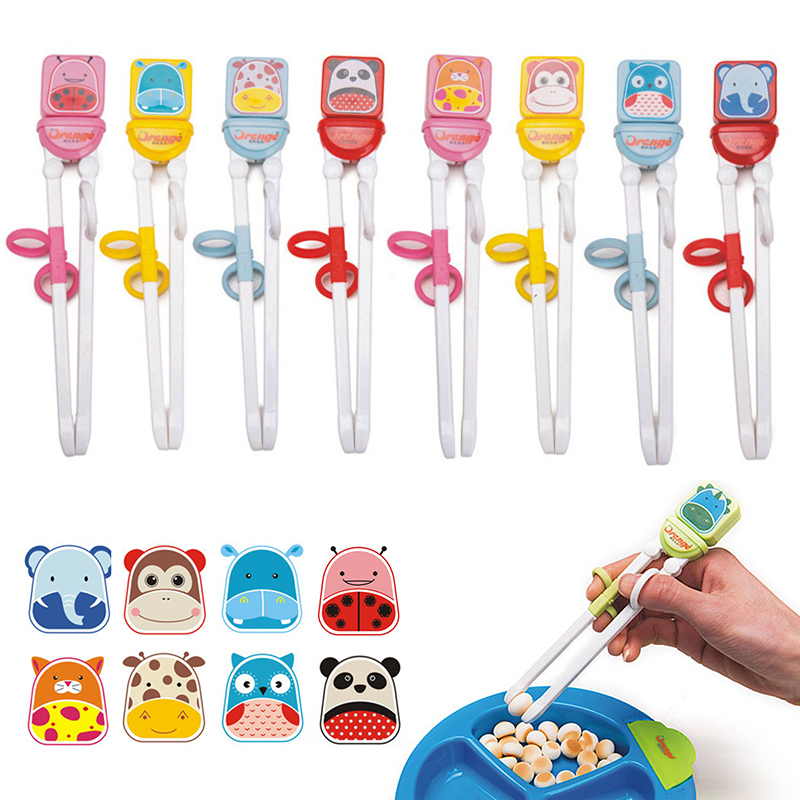 1 Pair Multi Color Cute Animals Minions Learning Training Chopstick Kid Children Chinese Chopstick Learner For Children's Gifts