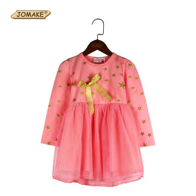 Meninas Vestem Nova Chegada 2017 Roupa Do Bebê Meninas Bonito Da Princesa vestido de Partido Dos Miúdos Tutu Vestido Da Menina de Arco lindo Estrelas Meninas vestidos