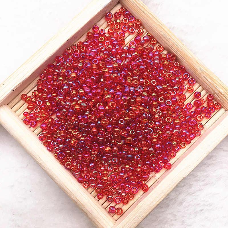 1000 قطعة/الوحدة (15 جرام) 2 مللي متر سحر التشيكية الزجاج البذور خزر عازل لصنع المجوهرات اليدوية Finding بها بنفسك العثور على الحرف