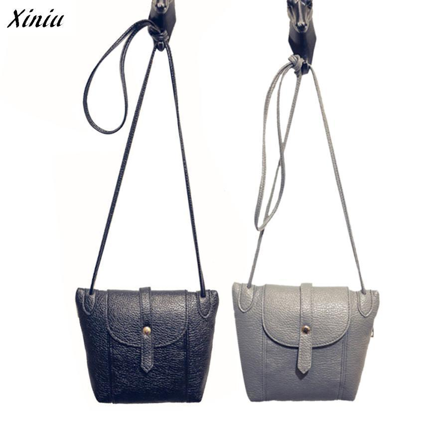 Xiniu Women Shoulder Bags Leather Cross Body Vintage Button Messenger Bags Long Strap Shoulder Bag Bolsa Mujer #2415 new 10 4 inch 225mm 173mm touch screen panels for amt9509 industrial medical atm touch screen digitizer panel free shipping