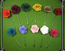 ผู้ชายดอกกุหลาบติดขาpinปกเข็มกลัดpins 20ชิ้น/ล็อต11สีสำหรับทางเลือกของคุณจัดส่งฟรี
