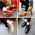 Spring Leather Shoes Men's Shoes Fashion Lacing Flats Male Pointed Toe Men's Oxfords