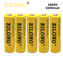 5pcs 18650 Battery Eilong 18650 3.7V 3200mah Super High-capacity & Fast Li-ion Protected Rechargeable Batteries perfect Power