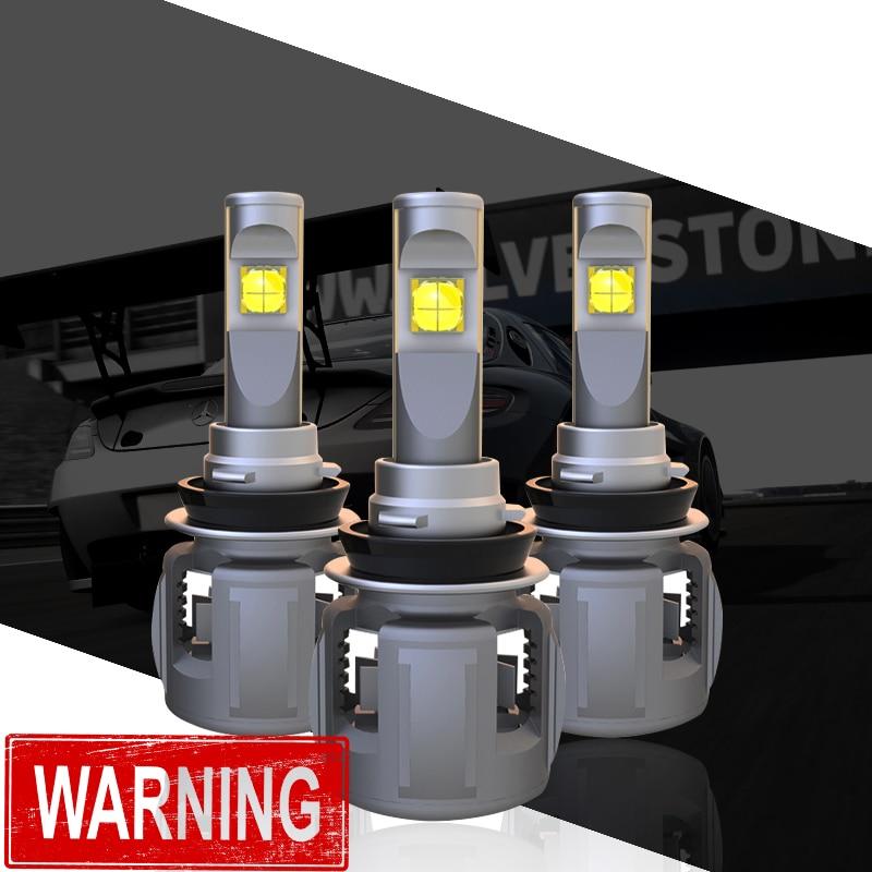 1 Set H8 H9 H11 120 W 15600LM XHP-70 Lentille Puces X70 Voiture phare LED Avant Lampe Ampoules H4 H7 9005/6 HB3/4 9012 D1S/D2S/D3S/D4S 6 K
