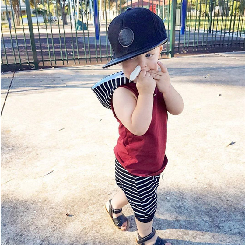 The new fashion cute design Toddler Kids Baby Boy Hooded Vest Tops+Shorts Pants 2pcs Outfits Clothes Set #4A08 (10)
