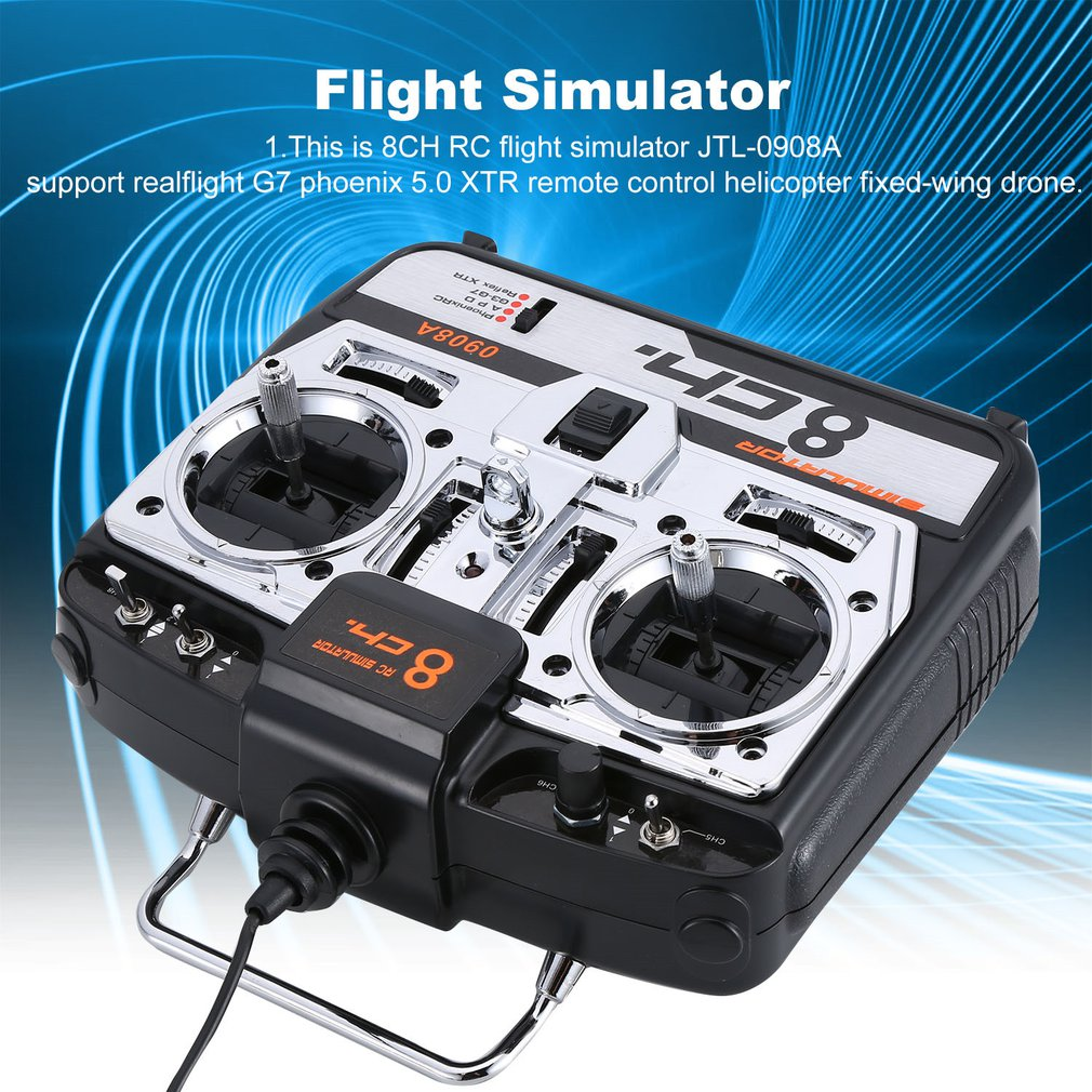 JTL0908A 8CH RC Flight Simulator Support Realflight G7 Phoenix 5 0 XTR  Remote Control Helicopter Fixed-wing Drone