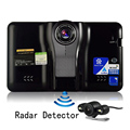 7 inch GPS Navigation Android Full HD1080P DVR Rear View Parking Dual Camera Radar Detector 16G Video Recorder WiFi Internet GPS