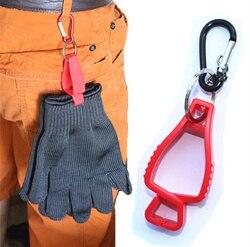 2 pcs Luva de plástico Clipe clips vermelho luvas De Trabalho braçadeira de Trabalho luvas de trabalho de segurança Guarda de fontes de Trabalho de entrega cor aleatória