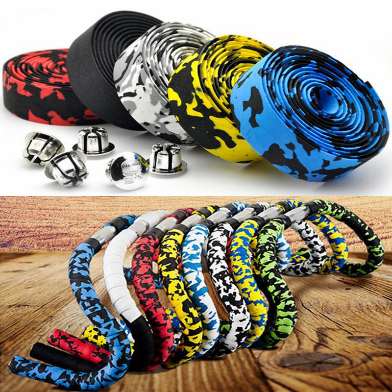 1 Piece Road Bike Bicycle Handlebar Tape Camouflage Cycling Handle Belt Cork Wrap Bike Bicycle Cork Handlebar Tape Wrap