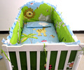 Promotion! 6PCS Crib bedding set Embroidery Baby Boy Bedding Set crib bed (bumpers+sheet+pillow cover)