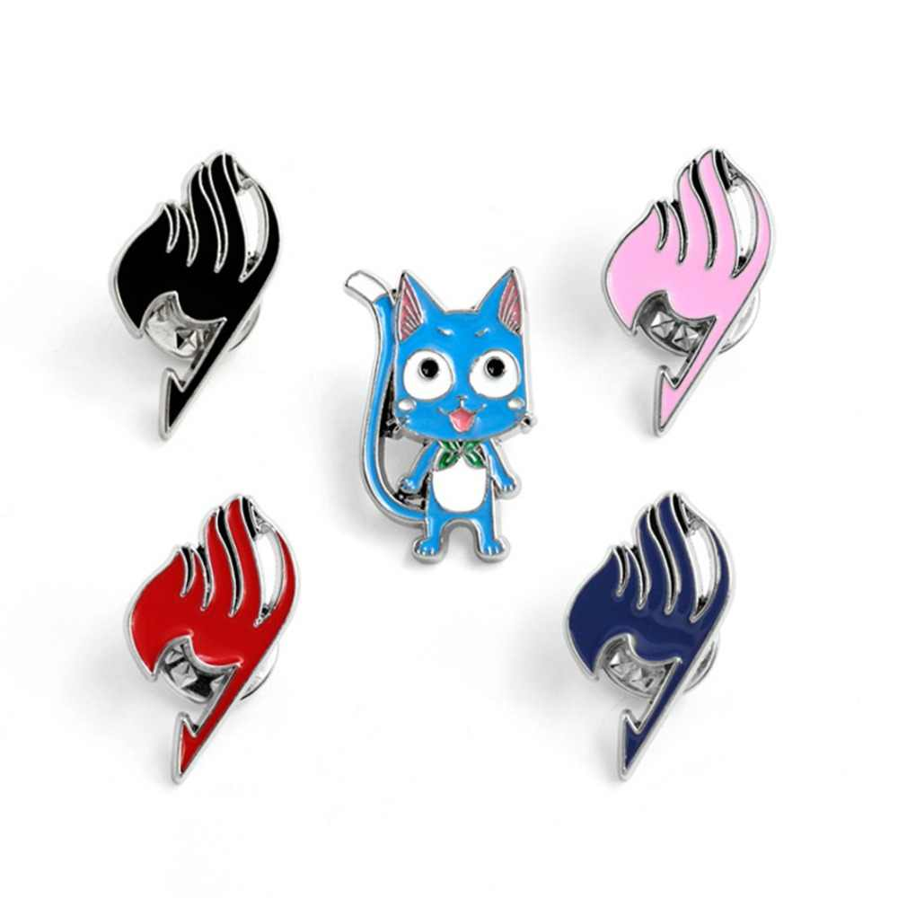 Cartoon Fairy Tail Happy Brooch fashion personalized novelty funny Denim Coat Shirt men women Pin Badge Jewelry Accessories gift