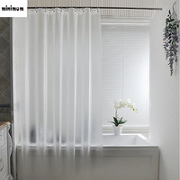 Plastic Scrub shower curtains Hook ring curtain Set translucent Waterproof Thicker mildew proof bathroom curtain Free punching