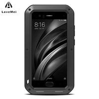 LOVE MEI For Xiaomi Mi 6 Case Cover Luxury Shockproof Hard Metal Aluminium Silicone Armor Phone Case for Xiaomi Mi6 Back Cover