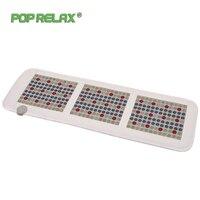 Pop Relax Korea Quality Health Mattress Jade Tourmaline Led Photon Light Therapy Heating Physiotherapy Mat Fir Stone Massage Mat