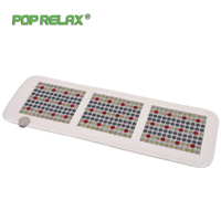 Pop Relax Korea Quality Health Mattress Jade Tourmaline Led Photon Light Therapy Heating Physiotherapy Mat Fir Stone Massage Mat