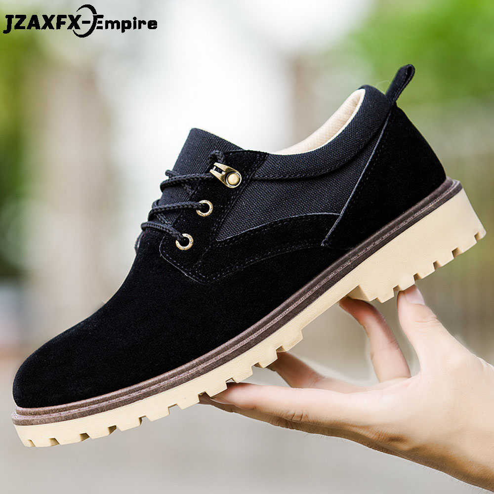 2019 Men Casual Leather Shoes Men Martins Leather Shoes Work Safety Shoes Winter Waterproof Ankle Botas Men Shoes Leather