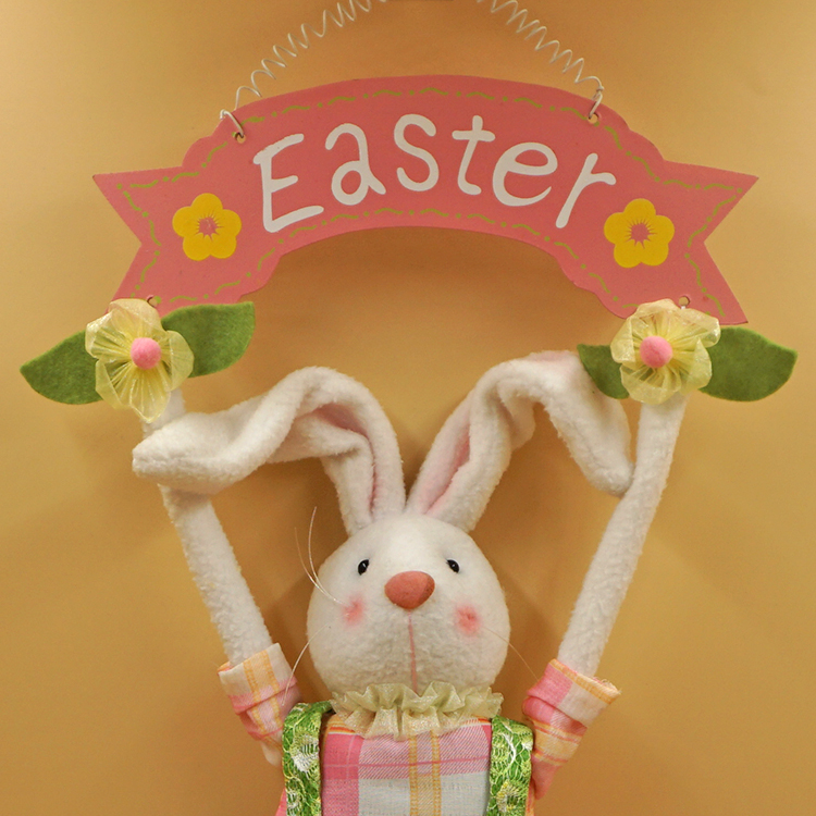 The easter bunny rabbit easter holiday gifts hanging wood fabric the easter bunny rabbit easter holiday gifts hanging wood fabric handmade jewelry creative ornaments recommended in event party from home garden on negle Images