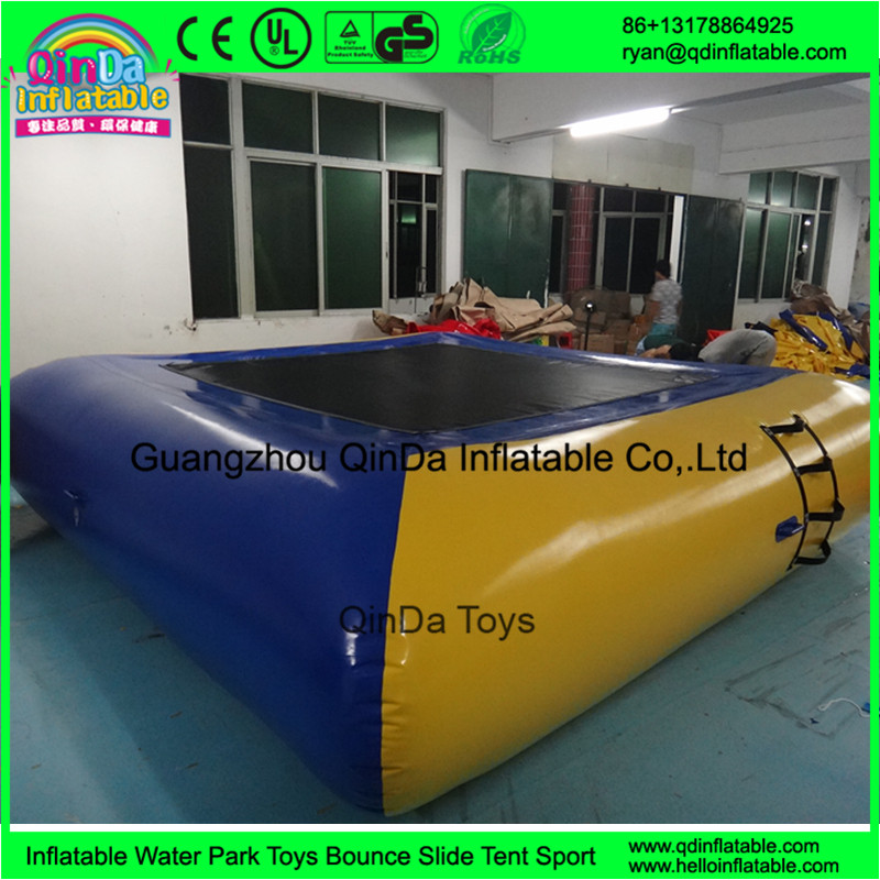 inflatable jumping water trampoline water bed07