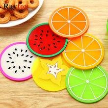 Кухонные принадлежности, 2 шт, силиконовая подставка для фруктов, овощной стиль, термостойкая Подставка под тарелку, фруктовый стол для напитков, коврик, кухонный гаджет