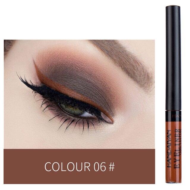 HANDAIYAN 12 Colors Waterproof Liquid Eyeliner Makeup Black White Pink Color Glitter Eye Liner maquiagem China Makeup TSLM2 4
