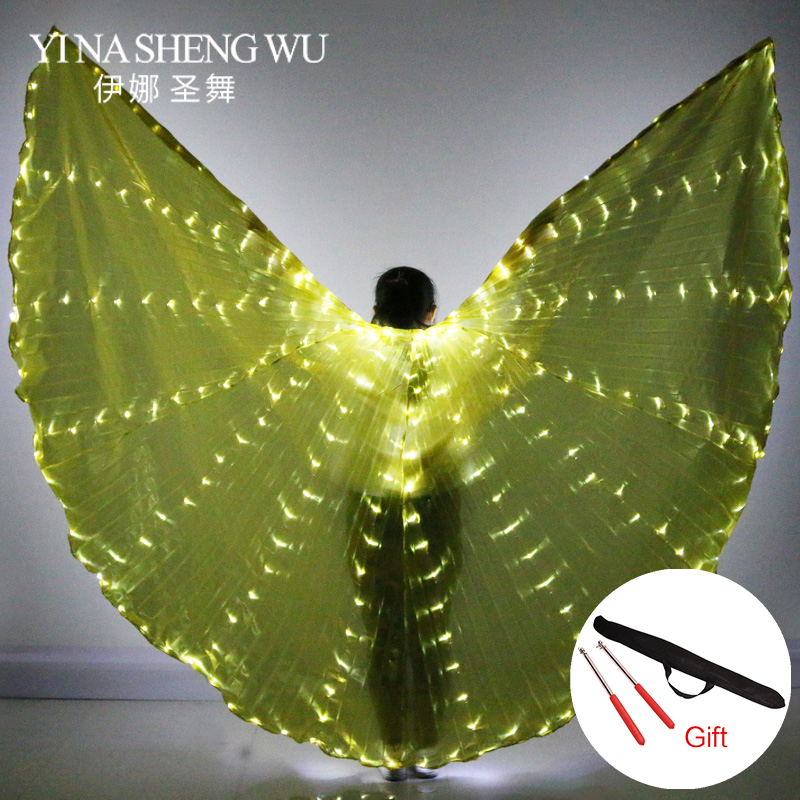 Women s Fiber Optic Costume Wings Egypt Belly Dance Isis Wings LED India Dancer Belly Dance