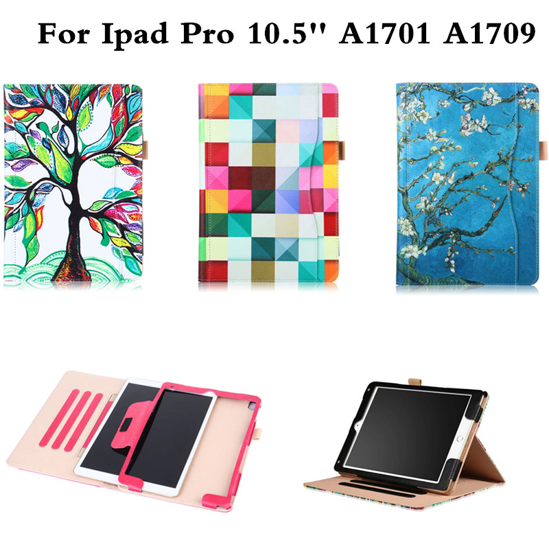 Luxury Cute Business Magnetic Smart case for iPad pro 10.5 A1701 A1709 Tablet Flip Stand PU Leather Cover For iPad pro 10.5 inch nice soft silicone back magnetic smart pu leather case for apple 2017 ipad air 1 cover new slim thin flip tpu protective case