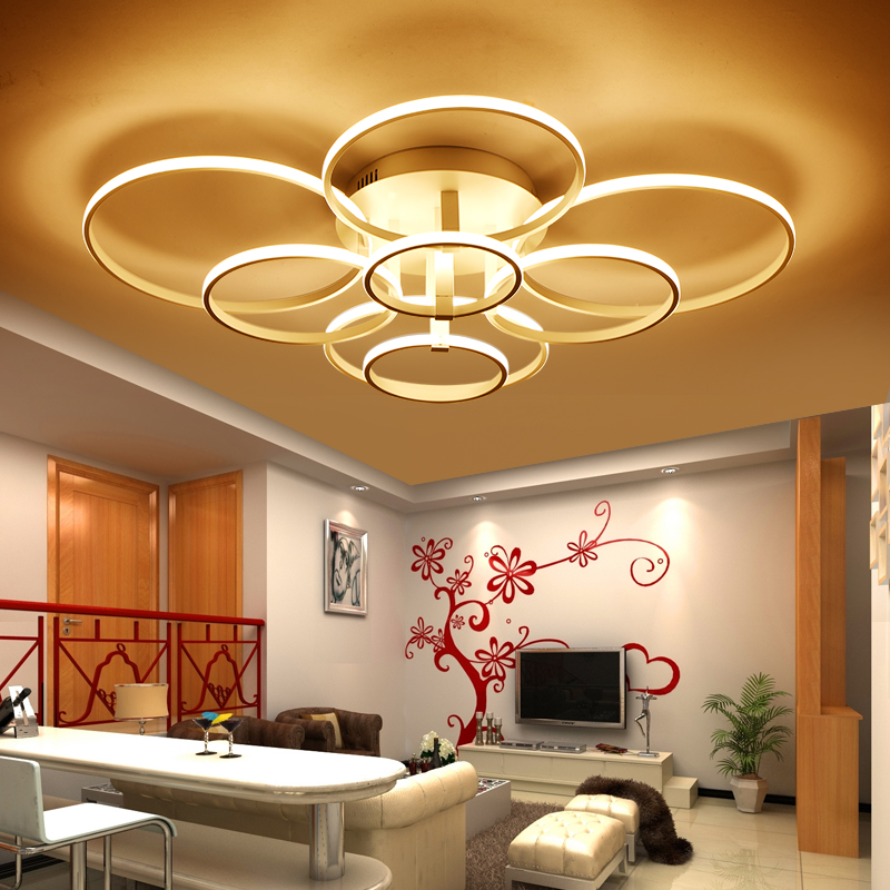 Remote Control Living Room Bedroom Modern Led Ceiling Lights Luminarias Para Sala Dimming Lamp Deckenleuchten In From