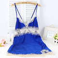 Ladies Silk Satin Sleep Dress Sleeveless Nighties V-Neck Night Dress Lace Nightgown Summer Sleepwear For Women