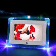 7 цифровая фоторамка hd электронный фотоальбом ультра-тонкий портативный светодиодный ЖК-экран Свадебный фотоальбом цифровой подарок