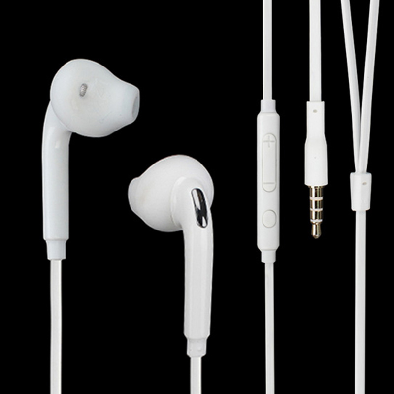 Hot! 3.5mm in-ear earphone S6 Headset earbuds with mic microphone Wired control for Samsung Galaxy s6 edge plus s3 s4 s5 Note in ear earphone with mic wired control in ear earphone phone earphones for samsung galaxy s4 s3 s2 s5 s6 s7 note 2